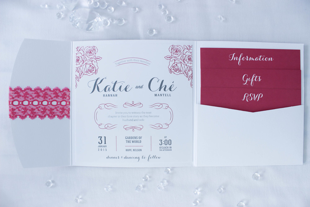 Purple wedding invite inspiration | Astra Bridal bride Katie | Nelson Wedding Photography | www.borrowedandblue.kiwi
