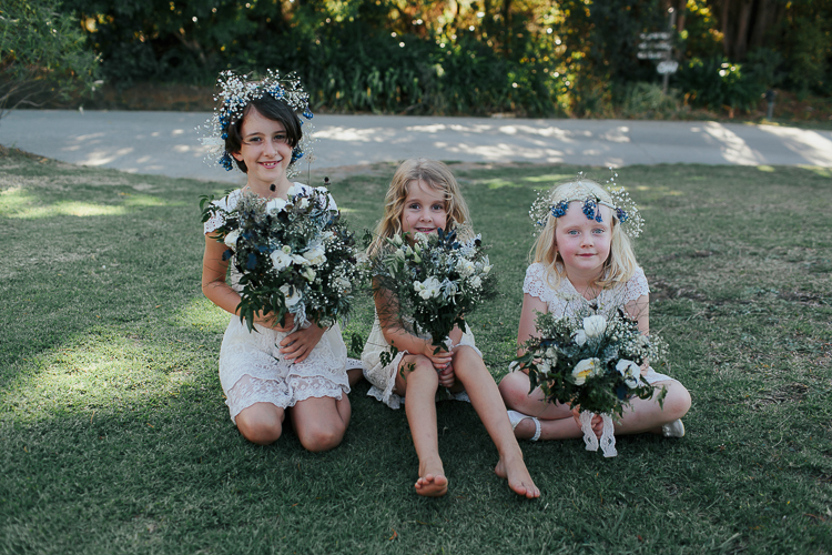 Super cute flowergirls | Eco friendly wedding | Astra Bridal Featured Bride Wendy | Photography by Oli Sansom | www.borrowedandblue.kiwi