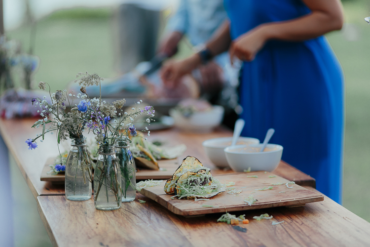 Wedding table settings | Eco friendly wedding | Astra Bridal Featured Bride Wendy | Photography by Oli Sansom | www.borrowedandblue.kiwi