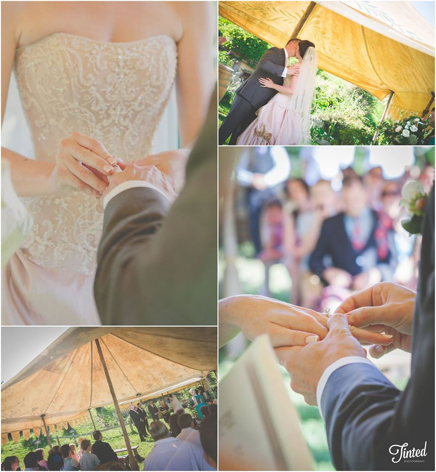 Beautiful wedding ceremony | Astra Bridal Feature Bride Anita | Hobbiton Wedding | Photo credit Tinted Photography | www.borrowedandblue.kiwi