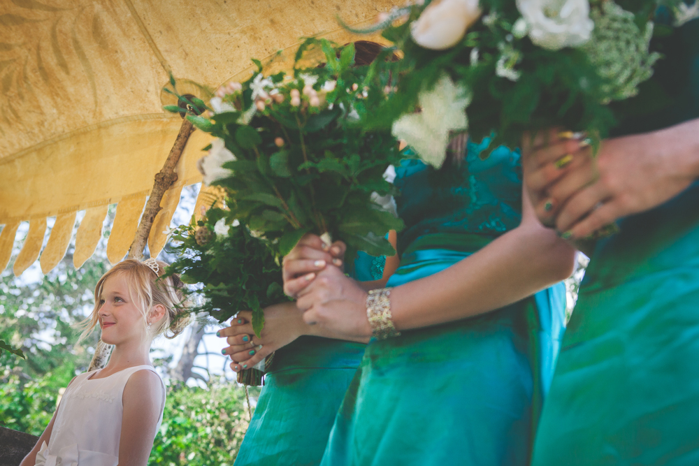 Teal bridesmaids dress | Astra Bridal Feature Bride Anita | Hobbiton Wedding | Photo credit Tinted Photography | www.borrowedandblue.kiwi