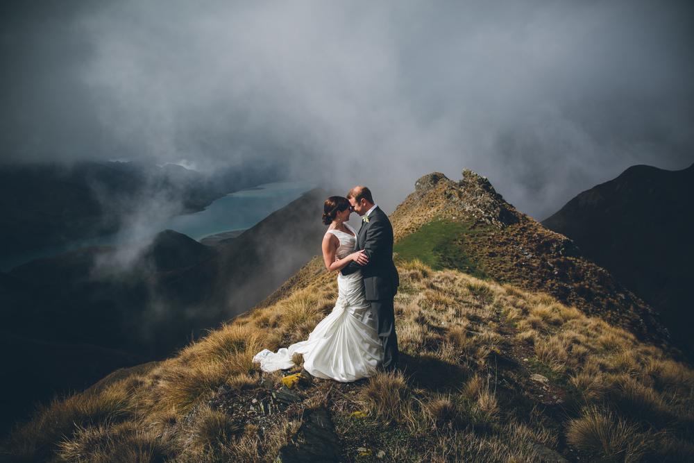 Lake Hawea wedding Wanaka | Astra Bridal bride Tania | Photography by Jim Pollard goes Click | www.borrowedandblue.kiwi