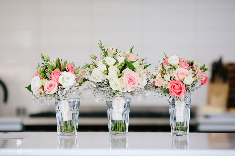 Pretty pink wedding bouquets \\ Astra Bridal Featured Bride Nic's Wanaka wedding \\ Simon Darby Photography \\ www.borrowedandblue.kiwi