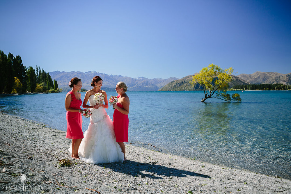 Astra Bridal Featured Bride Nic's Wanaka wedding. Every bride needs a shot by that tree \\ Simon Darby Photography \\ www.borrowedandblue.kiwi