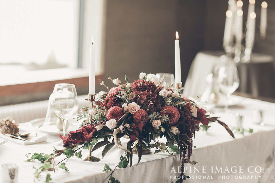 table decor | Wanaka Wedding Shoot | Photography by Alpine Image Co | www.borrowedandblue.kiwi