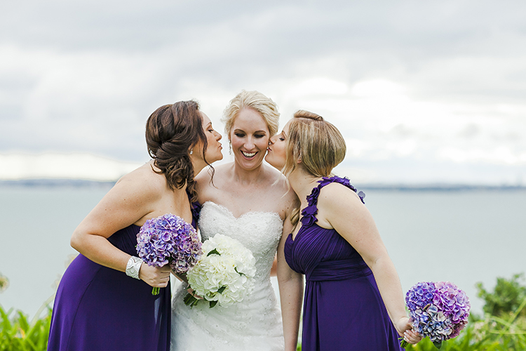 Purple bridesmaids | Photo - Kate Robinson | Astra Bride Monique | #Bonnybride |