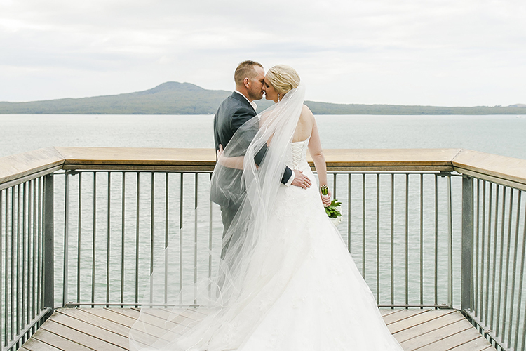 Rangitoto Island from Okahu Bay | Photo - Kate Robinson | Astra Bride Monique | #Bonnybride |