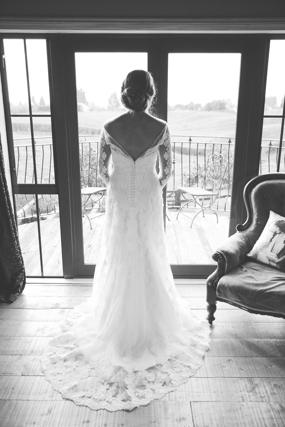 Beautiful back of wedding dress | Dutch wedding shoot | Photography by Tranquility Photography | Gown available at Astra Bridal | www.borrowedandblue.kiwi