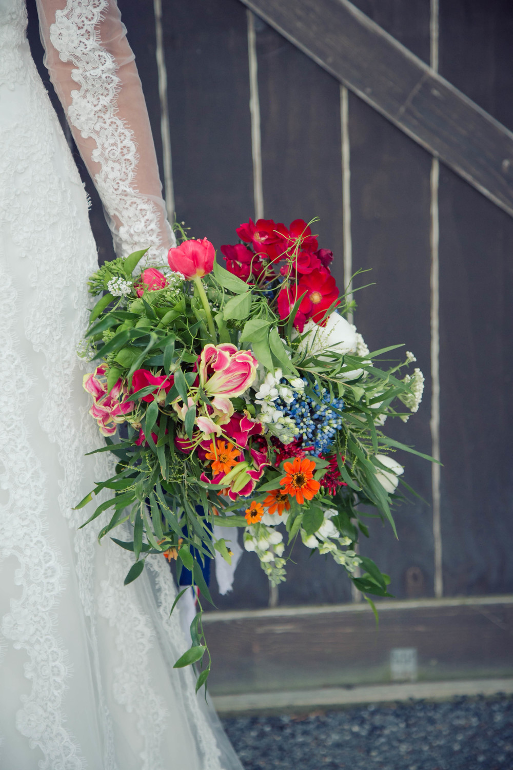 Wedding bouquet - bright and colourful | Dutch wedding shoot | Photography by Tranquility Photography | Gown available at Astra Bridal | www.borrowedandblue.kiwi