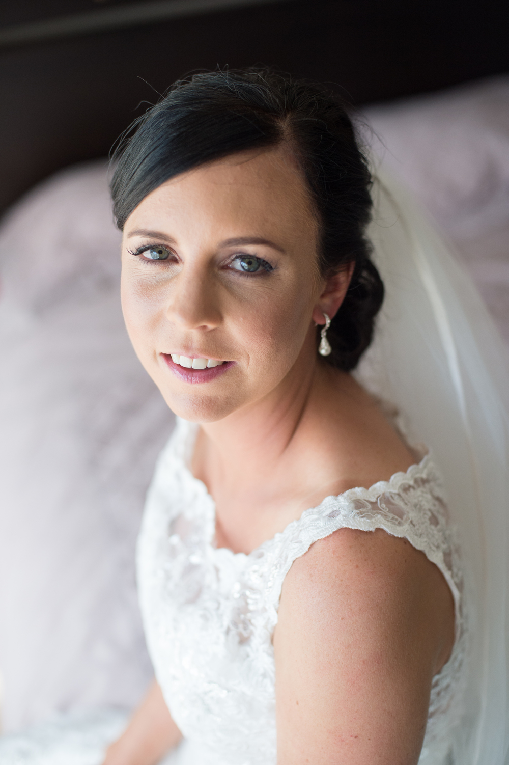 Beautiful bridal make-up | Astra Bridal Bride Megan | Photography by Laura Ridley | www.borrowedandblue.kiwi