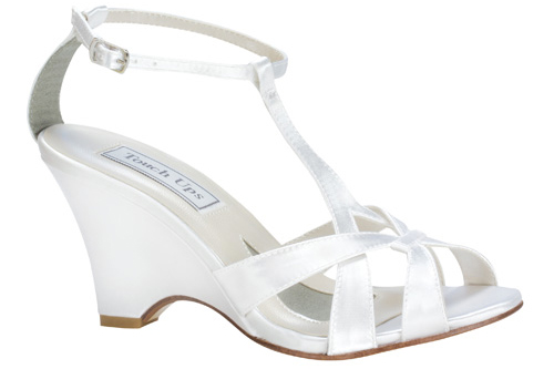 Lucy wedge shoe from Astra Bridal