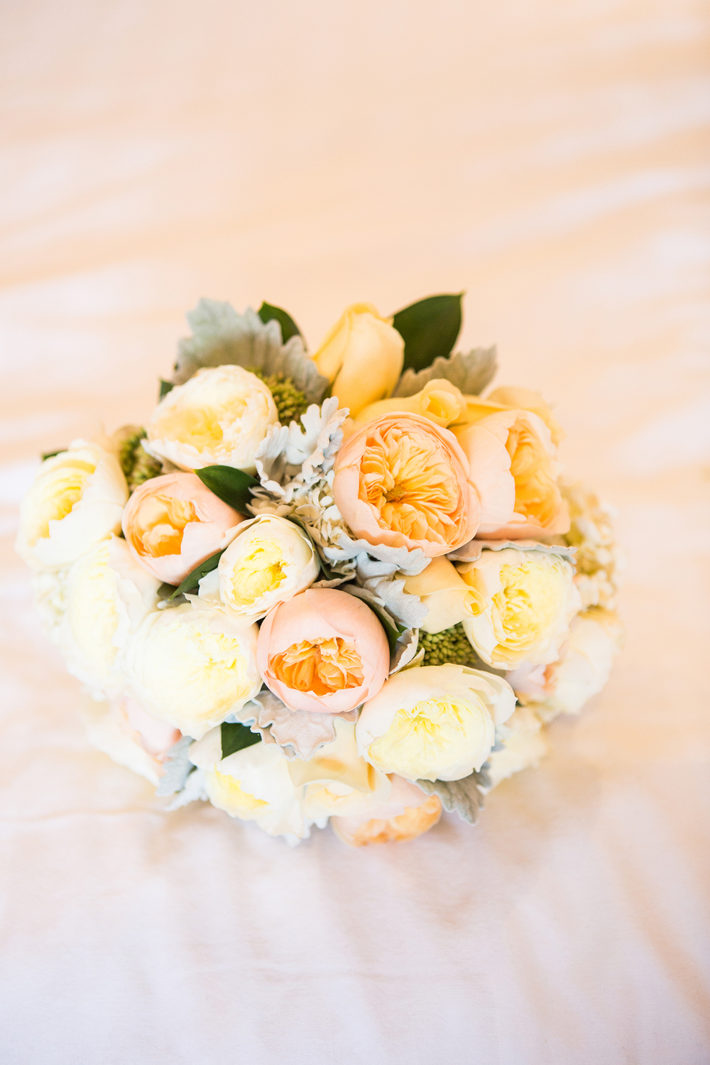 Yellow vintage wedding flowers Dress from Astra Bridal | Photography Kirsty and Grant Photography | www.borrowedandblue.kiwi