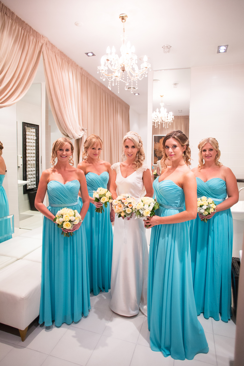 Blue bridesmaids dressesDress from Astra Bridal | Photography Kirsty and Grant Photography | www.borrowedandblue.kiwi