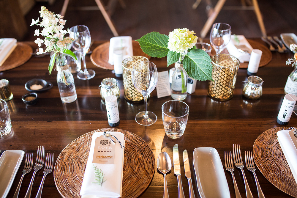 Vintage table setting Dress from Astra Bridal | Photography Kirsty and Grant Photography | www.borrowedandblue.kiwi
