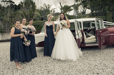 Vintage wedding transport | Astra Bride Sarah | Gown by Astra Bridal | photography by Amanda Wignell | www.borrowedandblue.kiwi