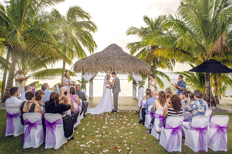 Purple themed | Rarotongan wedding | Astra Bride Lauren | Noir Wedding photography