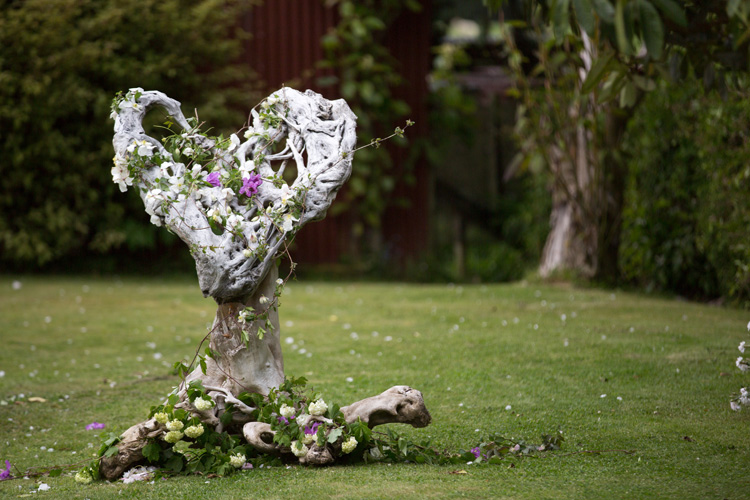 Gorgeous driftwood heart | Garden Wedding | Astra Bride Heleina | Maggie Sottero Gown |