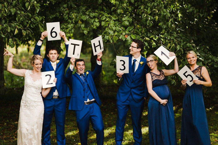 Mark the date | Great idea for a photo prop.  Francine by Maggie Sottero.