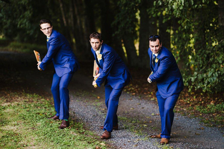 Astra Bride | The boys showing their sportsmanship in their electric blue suits.