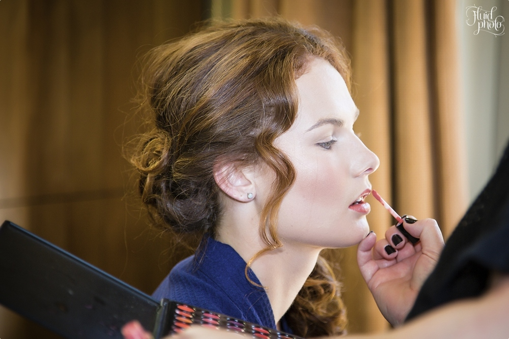 Getting ready for the wedding | Hair and Make-up by Road to Beauty | Vintage wedding inspiration | Behind the scenes shoot by Fluidphoto | www.borrowedandblue.kiwi
