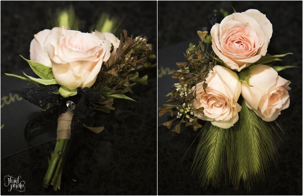 Mens buttonholes with a vintage touch | Flowers by Crimson Flowers | Vintage wedding inspiration | Behind the scenes shoot by Fluidphoto | www.borrowedandblue.kiwi