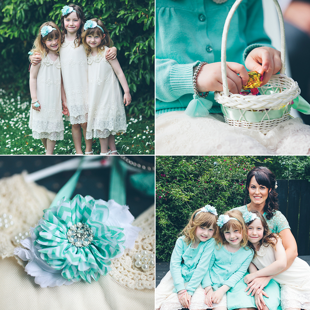 Mint Flowergirls | Astra Bride Rochelle | Christina Rossi Gown | Photography by Jo Currie |