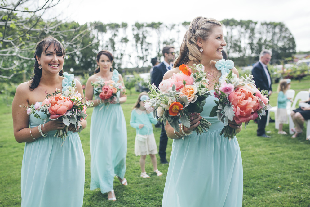 Mint Bridesmaids | Astra Bride Rochelle | Christina Rossi Gown | Photography by Jo Currie |