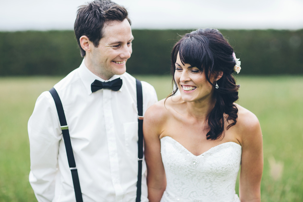 Relaxed couple after the ceremony | Astra Bride Rochelle | Christina Rossi Gown | Photography by Jo Currie |