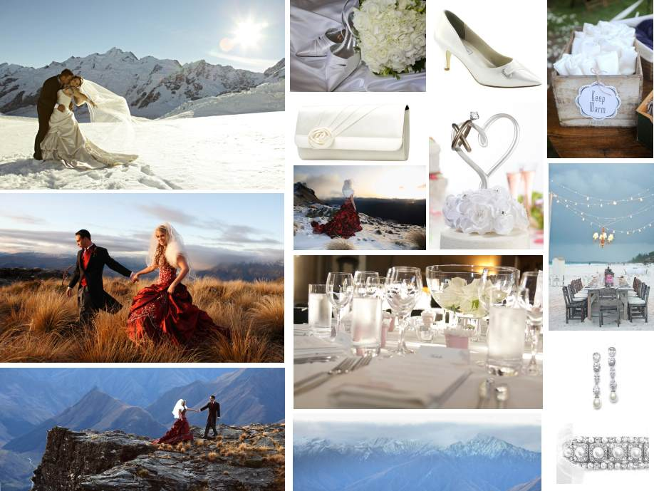 Mountain wedding inspiration board |Brought to you by Astra Bridal | www.borrowedandblue.kiwi