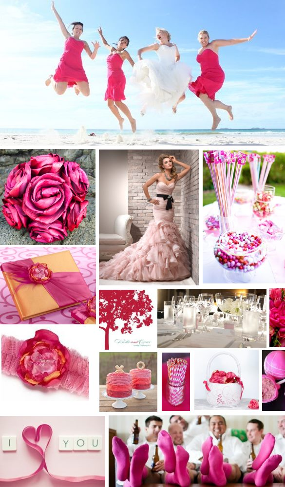 pink wedding inspiration | brought to you by www.borrowedandblue.kiwi