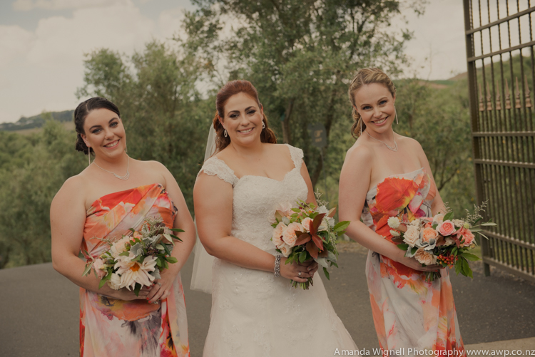 Bridesmaids in gorgeous floral print dresses | Astra bride Ariana | Photography Amanda Wignell |