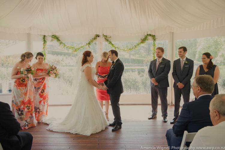 Ceremony at Bracu Pavilion | Astra bride Ariana | Photography Amanda Wignell |