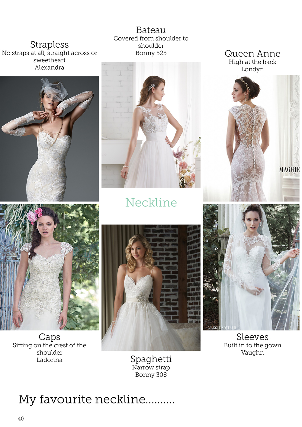 Wedding dress necklines | Bridal advice brought to you by Astra Bridal | www.borrowedandblue.kiwi