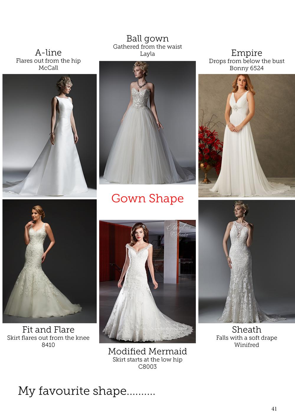 Wedding dress styles and shapes | Bridal advice brought to you by Astra Bridal | www.borrowedandblue.kiwi