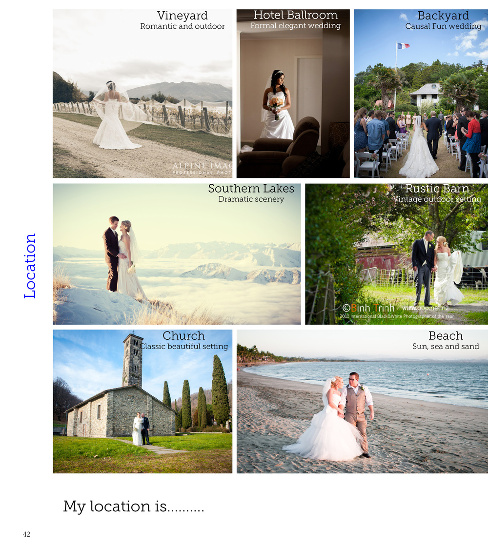 Wedding location options | Bridal advice brought to you by Astra Bridal | www.borrowedandblue.kiwi