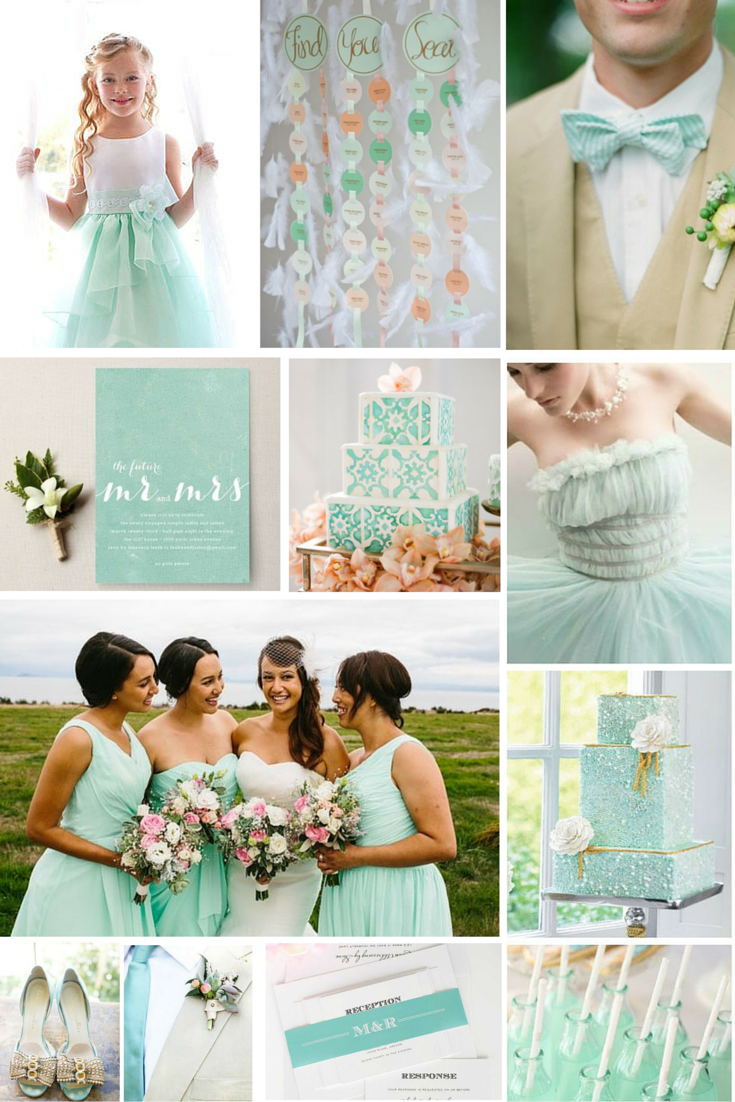 Mint green wedding styling inspiration