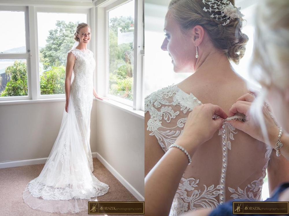 Astra Bride Sheena | Wedding preparation | Maggie Sottero Francesca | Borszik Photography | Okataina Lakes Rotorua |