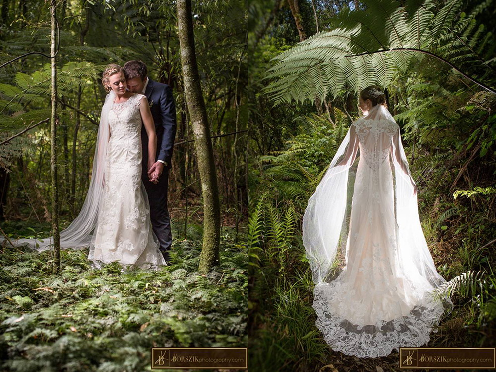 Astra Bride Sheena | Forest setting | Maggie Sottero Francesca | Borszik Photography | Okataina Lakes Rotorua |