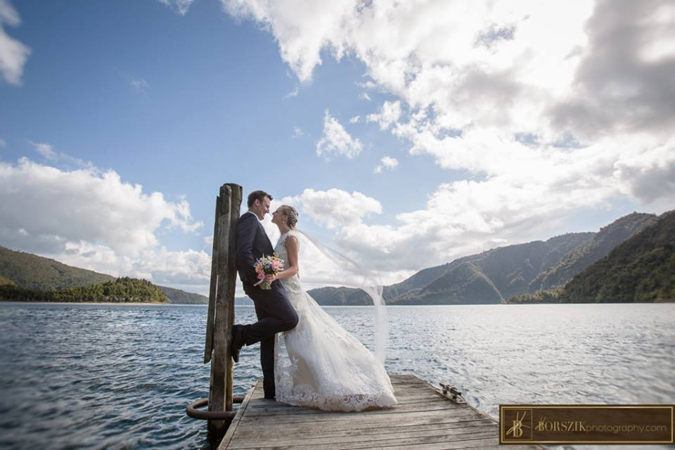 Astra Bride Sheena | Stunning location shot | Maggie Sottero Francesca | Borszik Photography | Okataina Lakes Rotorua |