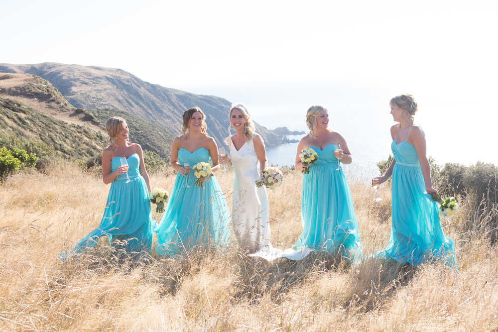Aqua blue bridesmaid inspiration | Anna's vintage chic wedding | brought to you by www.borrowedandblue.kiwi | Gown from Astra Bridal | Maggie Sottero Emilena | Kirsty and Grant Photography
