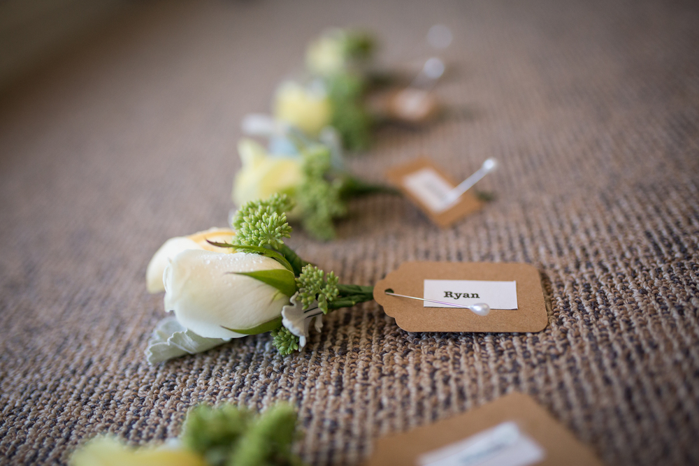 Grooms buttonholes | Anna's vintage chic wedding | brought to you by www.borrowedandblue.kiwi | Gown from Astra Bridal | Maggie Sottero Emilena | Kirsty and Grant Photography