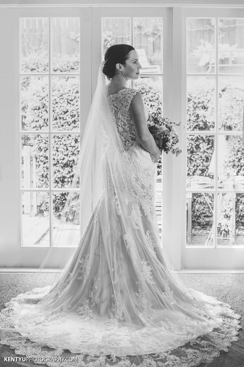 Gorgeous back shot | Astra Bride Karla | Maggie Sottero Melanie | Kent Yu Photography |