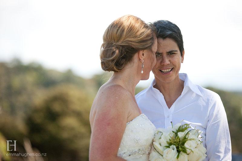 Sarah and Caroline's Waiheke wedding | photography by Emma Hughes | brought to you by www.borrowedandblue.kiwi | www.astrabridal.co.nz
