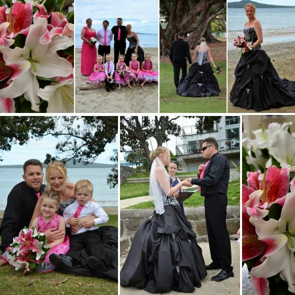 Black wedding dress | Astra Bridal | Pink and Black bridal inspiration | www.borrowedandblue.kiwi