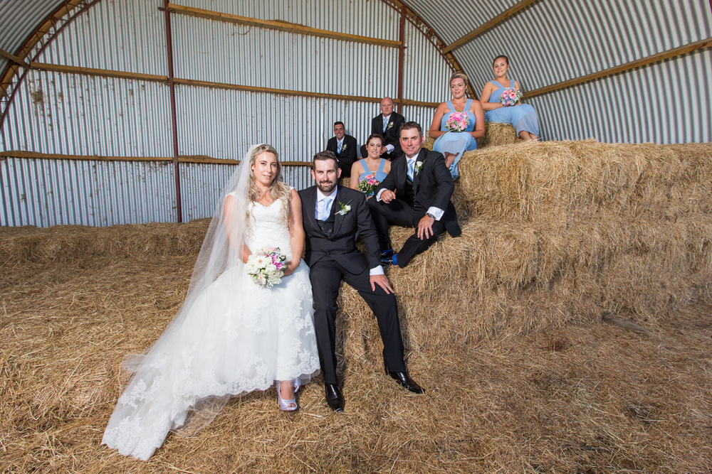 Rustic barn setting | Astra Bride Trish | Maggie Sottero Marty |