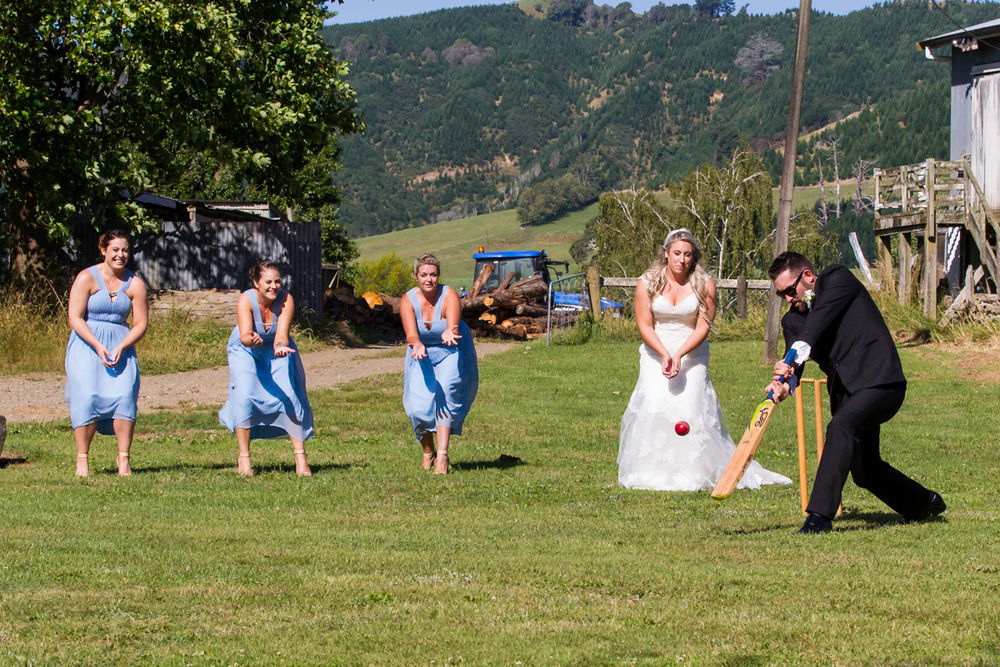 Fun game of cricket | Astra Bride Trish | Maggie Sottero Marty |