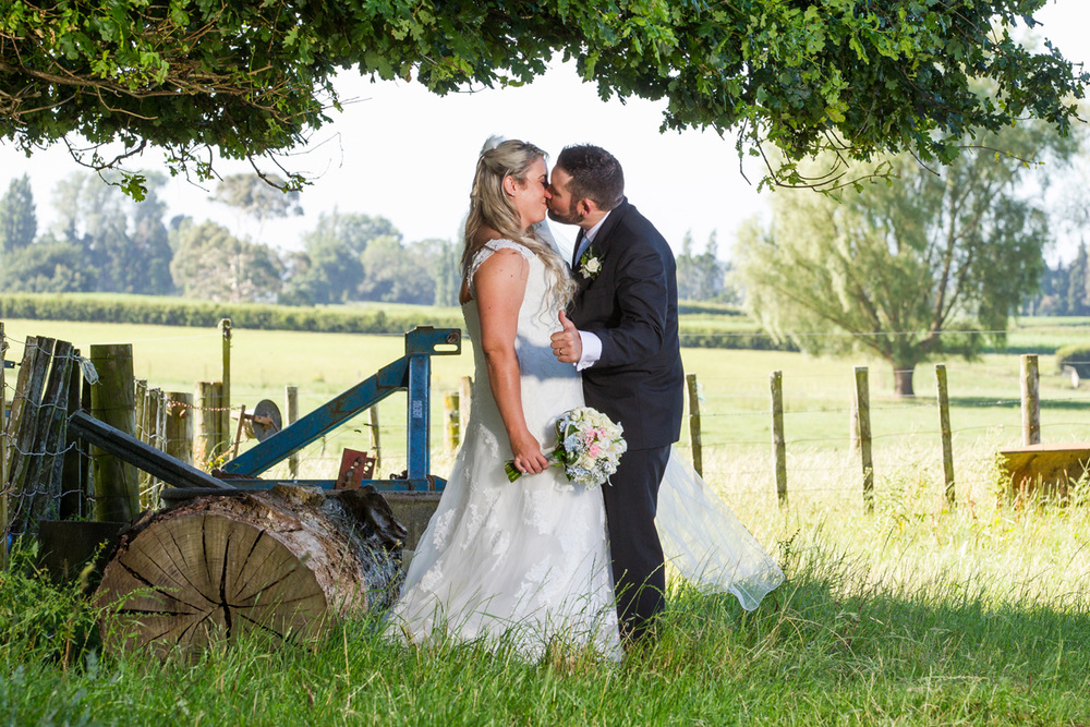 Rural setting for romantic wedding | Astra Bride Trish | Maggie Sottero Marty |