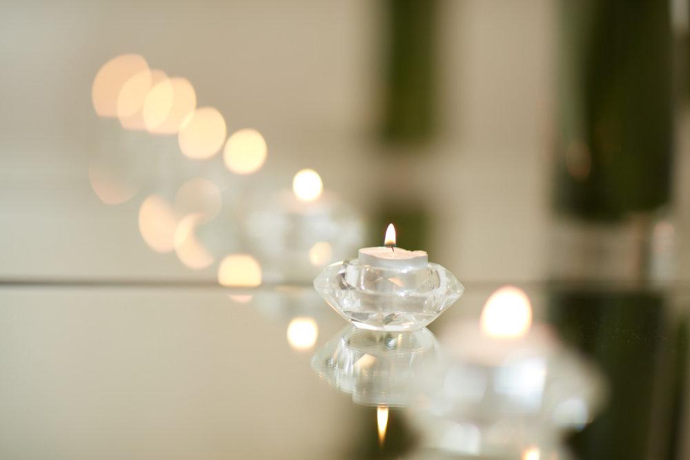 Tealights | Romantic wedding inspiration | photography by Josh Edmonds | Maggie Sottero Wedding dress from Astra Bridal | www.borrowedandblue.kiwi