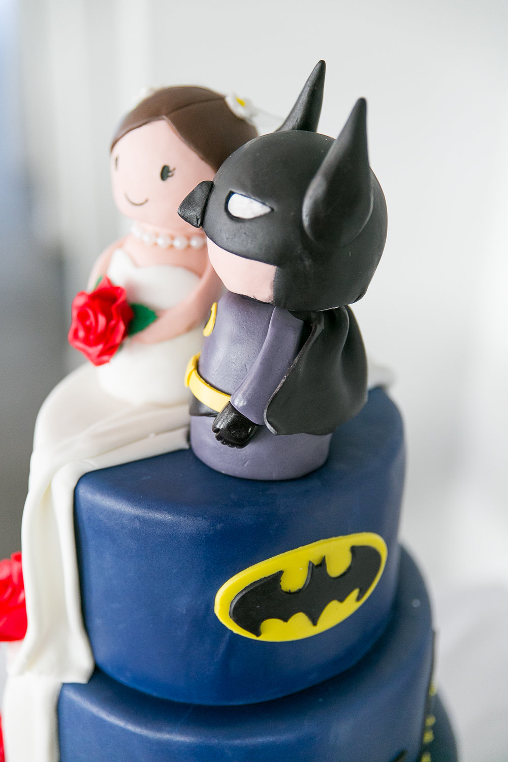Batman Cake | Astra Bride Kimberly | Maggie Sottero Londyn | Gear Homestead | Von Photography |