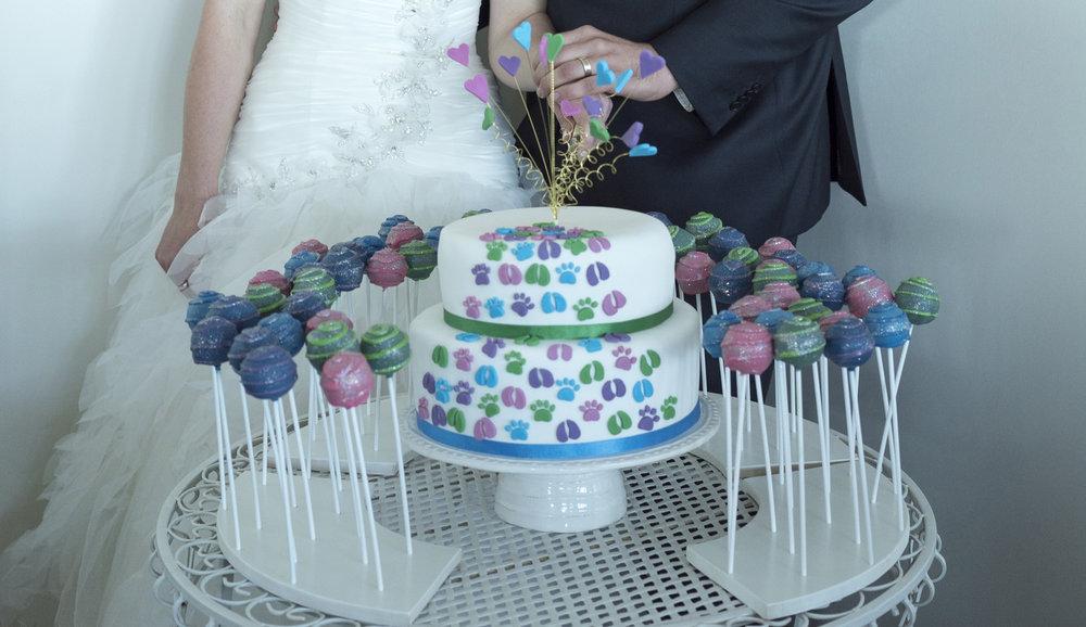 Cake pops | Astra Bride Jo | Bonny 229 | Taranaki wedding | Photography by Mark Bellringer |